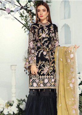 Emaan Adeel Embroidered Chiffon Unstitched 3 Piece Suit EA19-C9 909 - Luxury Collection