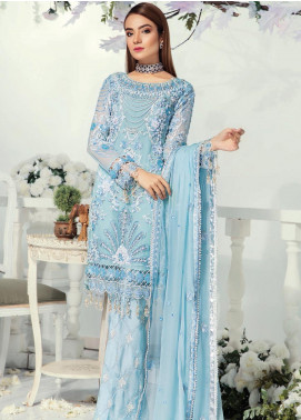 Emaan Adeel Embroidered Chiffon Unstitched 3 Piece Suit EA19-C9 910 - Luxury Collection