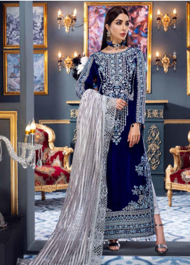Makhmal by Emaan Adeel Embroidered Velvet Unstitched 3 Piece Suit EA20M 02 - Luxury Collection