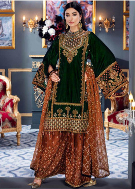 Makhmal by Emaan Adeel Embroidered Velvet Unstitched 3 Piece Suit EA20M 03 - Luxury Collection