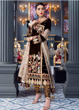 Makhmal by Emaan Adeel Embroidered Velvet Unstitched 3 Piece Suit EA20M 04 - Luxury Collection