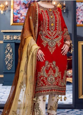 Makhmal by Emaan Adeel Embroidered Velvet Unstitched 3 Piece Suit EA20M 07 - Luxury Collection