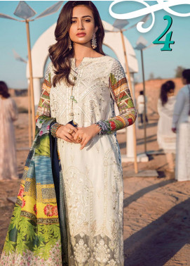 Epoque By Sana Yasir Embroidered Lawn Unstitched 3 Piece Suit EP18L 04 - Spring / Summer Collection