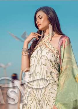 Epoque By Sana Yasir Embroidered Lawn Unstitched 3 Piece Suit EP18L 08 - Spring / Summer Collection