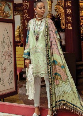 Epoque by Sana Yasir Embroidered Lawn Unstitched 3 Piece Suit EP19L 01 MINT ODYSSEY - Spring / Summer Collection