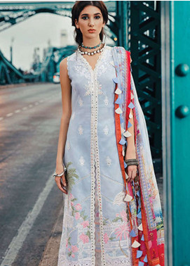 Epoque by Sana Yasir Embroidered Lawn Unstitched 3 Piece Suit EP19L 10 MINIATURE - Spring / Summer Collection
