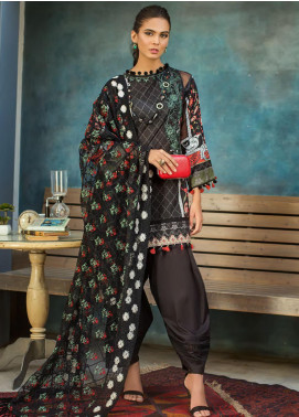 Erum Khan Embroidered Lawn Unstitched 3 Piece Suit EK20L D-01A - Eid Collection