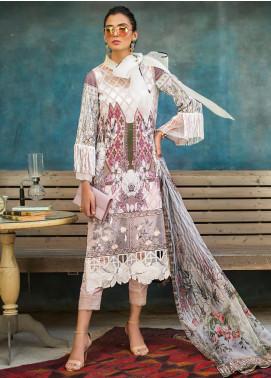 Erum Khan Embroidered Lawn Unstitched 3 Piece Suit EK20L D-02A - Eid Collection