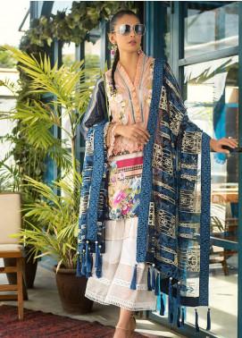 Erum Khan Embroidered Lawn Unstitched 3 Piece Suit EK20L D-04A - Eid Collection