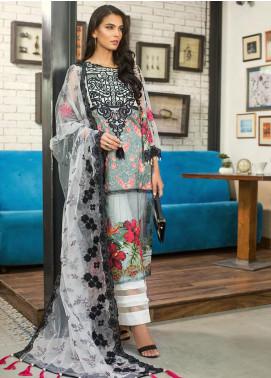 Erum Khan Embroidered Lawn Unstitched 3 Piece Suit EK20L D-05A - Eid Collection