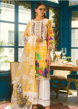 Erum Khan Embroidered Lawn Unstitched 3 Piece Suit EK20L D-06A - Eid Collection
