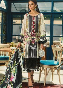 Erum Khan Embroidered Lawn Unstitched 3 Piece Suit EK20L D-07A - Eid Collection