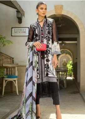 Erum Khan Embroidered Lawn Unstitched 3 Piece Suit EK20L D-10A - Eid Collection
