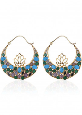 Esfir Jewels  Goldplated  Earrings Lotus Montage - Ladies Jewellery