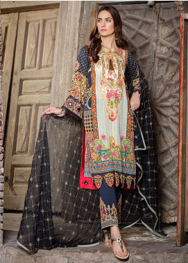 Esha & Isbah Embroidered Lawn Unstitched 3 Piece Suit EI19L 1A SAHAR - Spring / Summer Collection