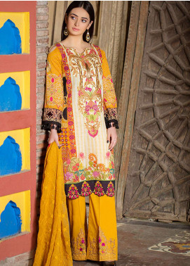 Esha & Isbah Embroidered Lawn Unstitched 3 Piece Suit EI19L 1B SAHAR - Spring / Summer Collection