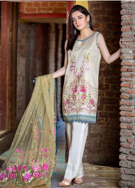 Esha & Isbah Embroidered Lawn Unstitched 3 Piece Suit EI19L 2B ANDALEEB - Spring / Summer Collection