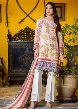Esha & Isbah Embroidered Lawn Unstitched 3 Piece Suit EI19L 5B KOMAL - Spring / Summer Collection