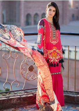 Esha & Isbah Embroidered Lawn Unstitched 3 Piece Suit EI19L 6A SHAFAQ - Spring / Summer Collection