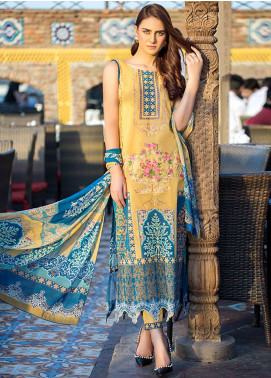 Esha & Isbah Embroidered Lawn Unstitched 3 Piece Suit EI19L 6B SHAFAQ - Spring / Summer Collection