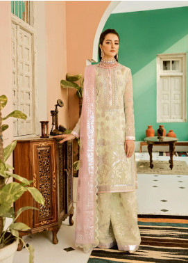 Eshgh by Sable Vogue Embroidered Organza Unstitched 3 Piece Suit SV20EG 01 NOOR-E-CHASHAM - Luxury Collection