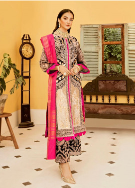 Eshgh by Sable Vogue Embroidered Organza Unstitched 3 Piece Suit SV20EG 02 NAZNEEN - Luxury Collection
