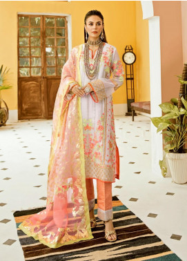 Eshgh by Sable Vogue Embroidered Organza Unstitched 3 Piece Suit SV20EG 03 CASPAARA-E-JAHAN - Luxury Collection
