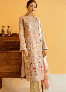 Eshgh by Sable Vogue Embroidered Tissue Unstitched 3 Piece Suit SV20EG 04 DILARA - Luxury Collection