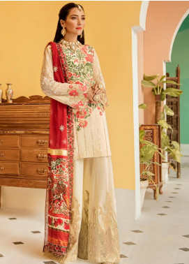 Eshgh by Sable Vogue Embroidered Silk Unstitched 3 Piece Suit SV20EG 05 MARJAAN - Luxury Collection