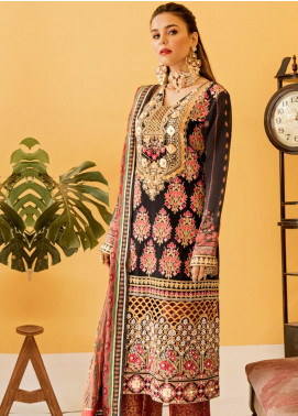 Eshgh by Sable Vogue Embroidered Organza Unstitched 3 Piece Suit SV20EG 06 MAHJABEEN - Luxury Collection
