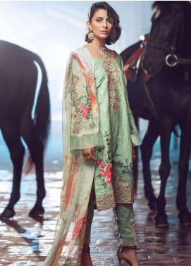 Exotique by Iqra Reza Embroidered Linen Unstitched 3 Piece Suit EX19LN 01 TAZE - Winter Collection