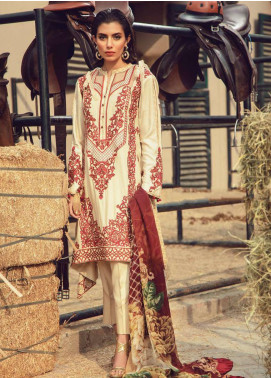 Exotique by Iqra Reza Embroidered Linen Unstitched 3 Piece Suit EX19LN 07 PRESTIGE - Winter Collection