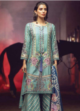 Exotique by Iqra Reza Embroidered Linen Unstitched 3 Piece Suit EX19LN 10 OCEAN - Winter Collection