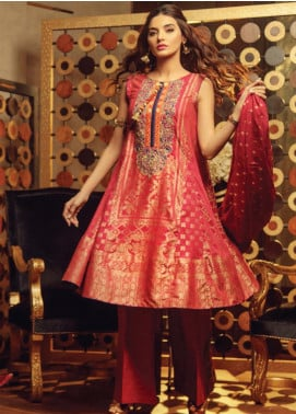 Exotique By Iqra Reza Embroidered Jacquard Luxury Collection Luxe 2019