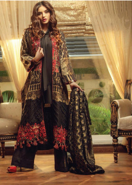 Exotique By Iqra Reza Embroidered Jacquard Luxury Collection Noir 2019