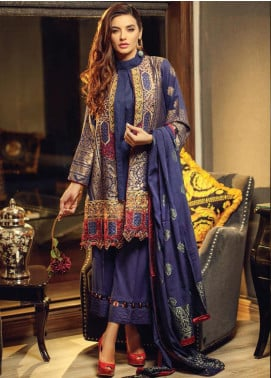 Exotique By Iqra Reza Embroidered Jacquard Luxury Collection Sombre 2019