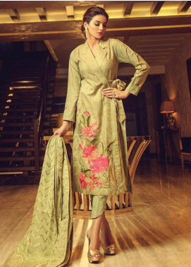Exotique by Iqra Reza Embroidered Jacquard Unstitched 3 Piece Suit EX19IR VERDE - Luxury Collection