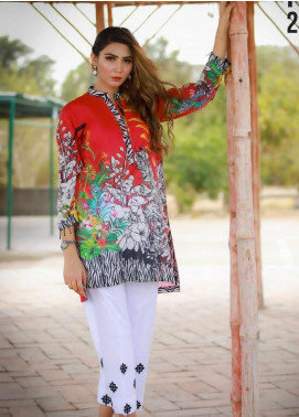 Ezaan by Fateh Printed Lawn Unstitched Kurties FT20EZ FS-246 - Spring / Summer Collection