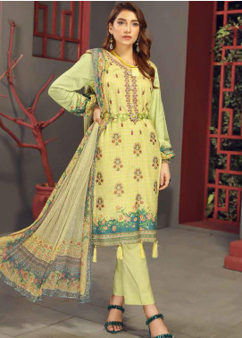 Fabura by Sanam Saeed Embroidered Cottel Unstitched 3 Piece Suit SS2CT 07 - Winter Collection