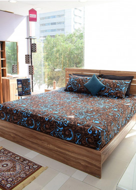 Plush Mink Double Bed Man Made Material Fantasy Bed Sheet Supreme Finish FA04 - Home & Decor