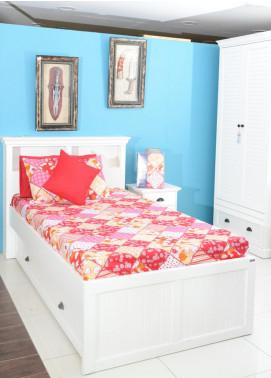 Plush Mink Single Bed Man Made Material Fantasy Bed Sheet Supreme Finish FS02 - Home & Decor