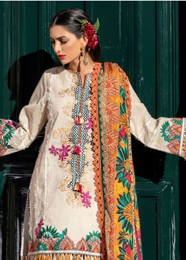 Farah Talib Embroidered Lawn Unstitched 3 Piece Suit FTA19L 6 Porta Palms - Spring / Summer Collection