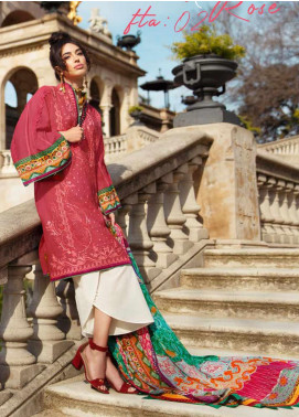 Farah Talib Embroidered Jacquard Unstitched 3 Piece Suit FTA20SS 02 May Rose - Spring / Summer Collection