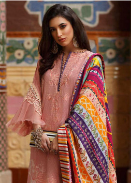 Farah Talib Embroidered Jacquard Unstitched 3 Piece Suit FTA20SS 04 Rosado - Spring / Summer Collection