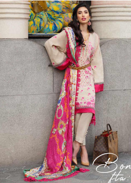 Farah Talib Embroidered Jacquard Unstitched 3 Piece Suit FTA20SS 07 Bonita - Spring / Summer Collection