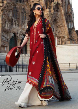Farah Talib Embroidered Jacquard Unstitched 3 Piece Suit FTA20SS 14 Roja - Spring / Summer Collection