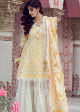 Farah Talib Embroidered Lawn Unstitched 3 Piece Suit FTA19E 1 ZEEBA - Festive Collection
