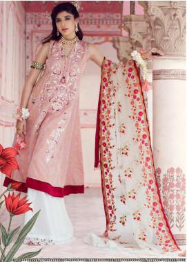Farah Talib Embroidered Jacquard Unstitched 3 Piece Suit FTA19E 7 SURKH - Festive Collection