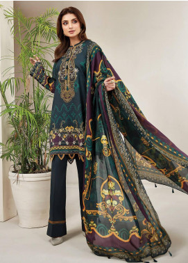 Farasha Embroidered Lawn Unstitched 3 Piece Suit FSH20L 06 TROPICAL TOURMALINE - Spring / Summer Collection