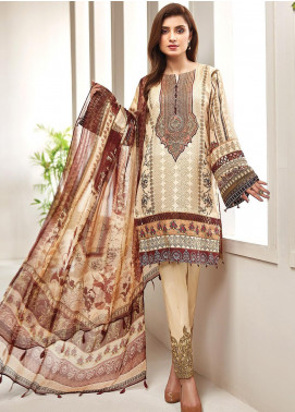 Farasha Embroidered Lawn Unstitched 3 Piece Suit FSH20L 07 VINTAGE FUSION - Spring / Summer Collection